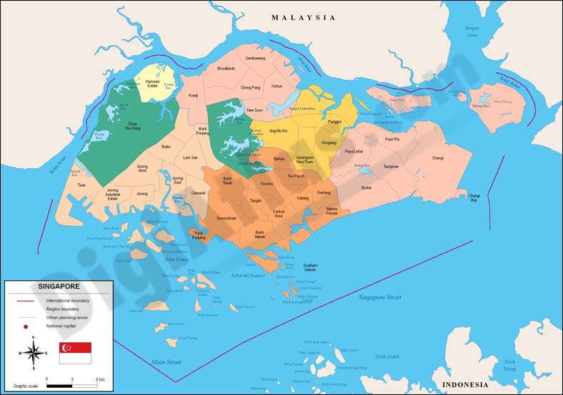 Map of Singapore