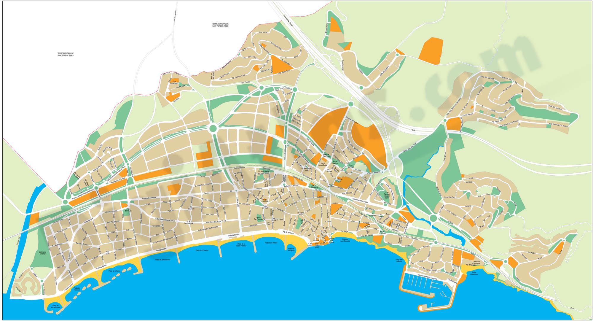 Sitges city map