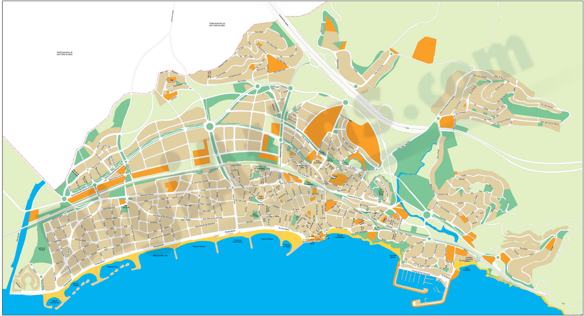 Sitges city map