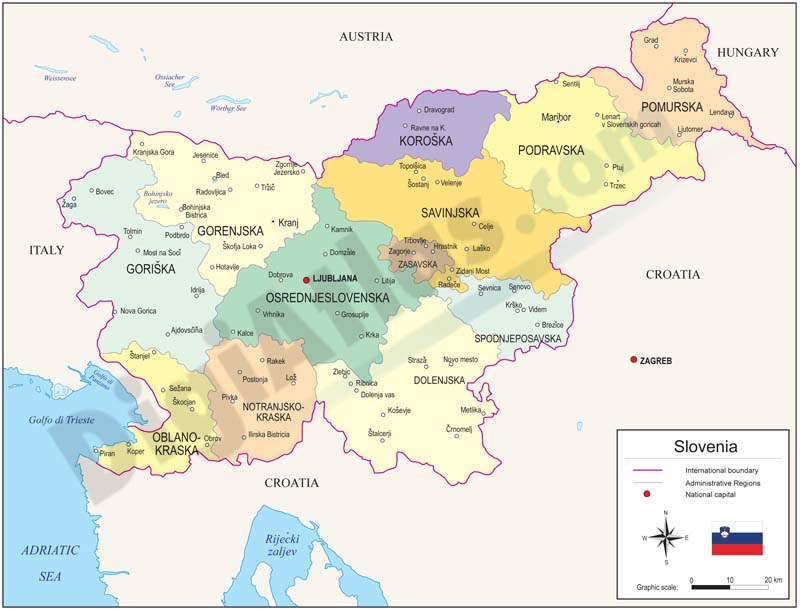 slovenia map pdf gallery