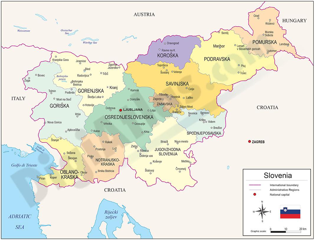 Map of Slovenia