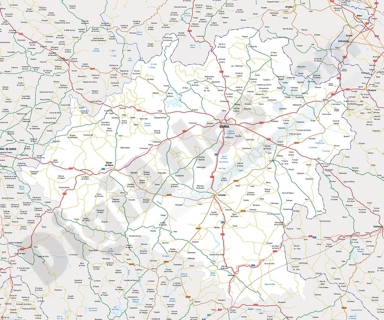 Mapa de la provincia de Soria