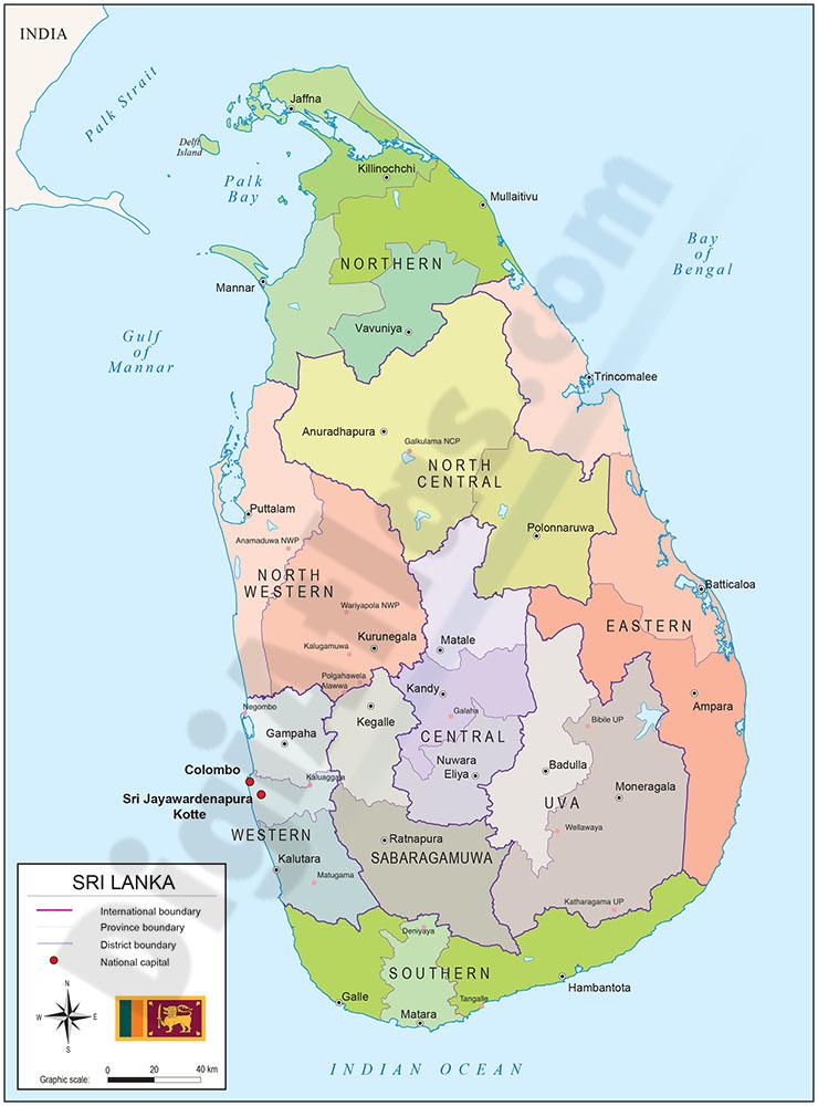Mapa De Sri Lanka.Descarga Online De Mapas Digitales Digiatlas