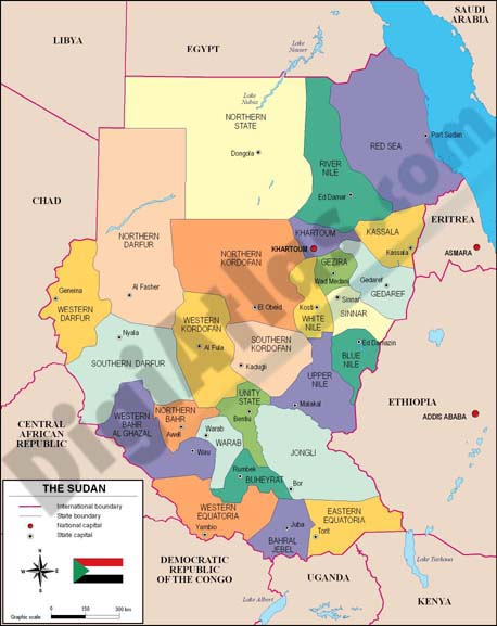 Mapa de Sudan
