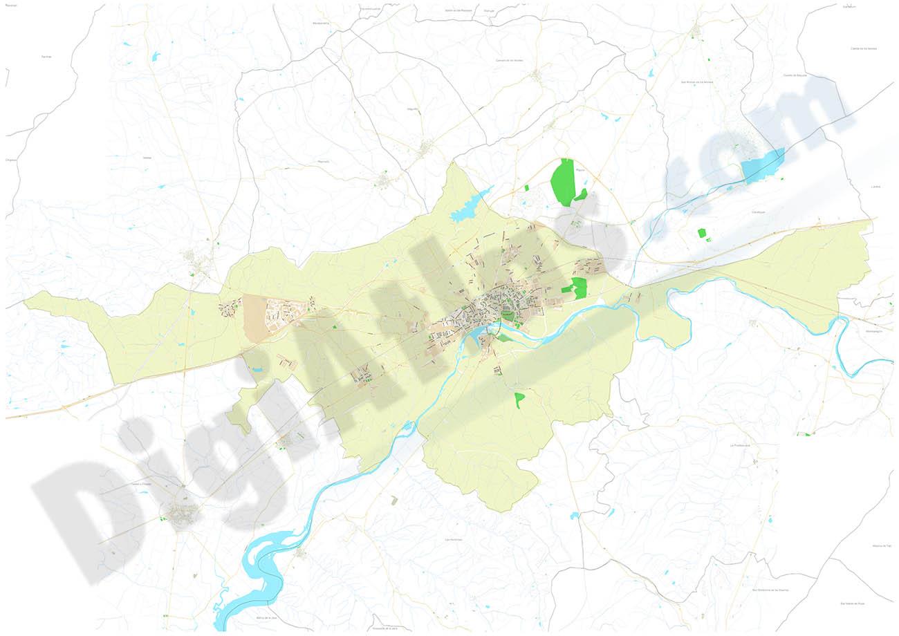 Talavera de la Reina - municipality city map