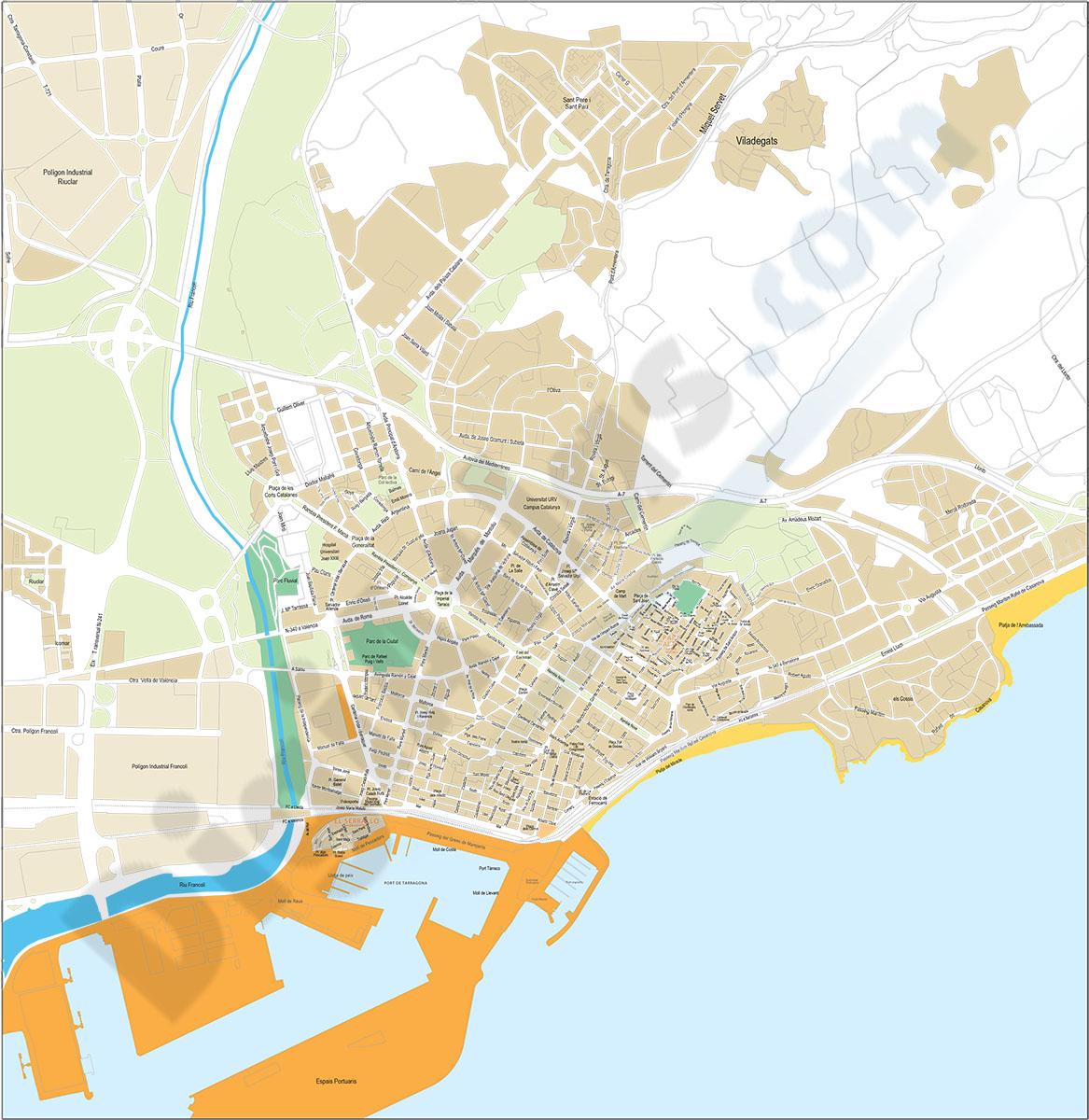 Tarragona centro - plano callejero