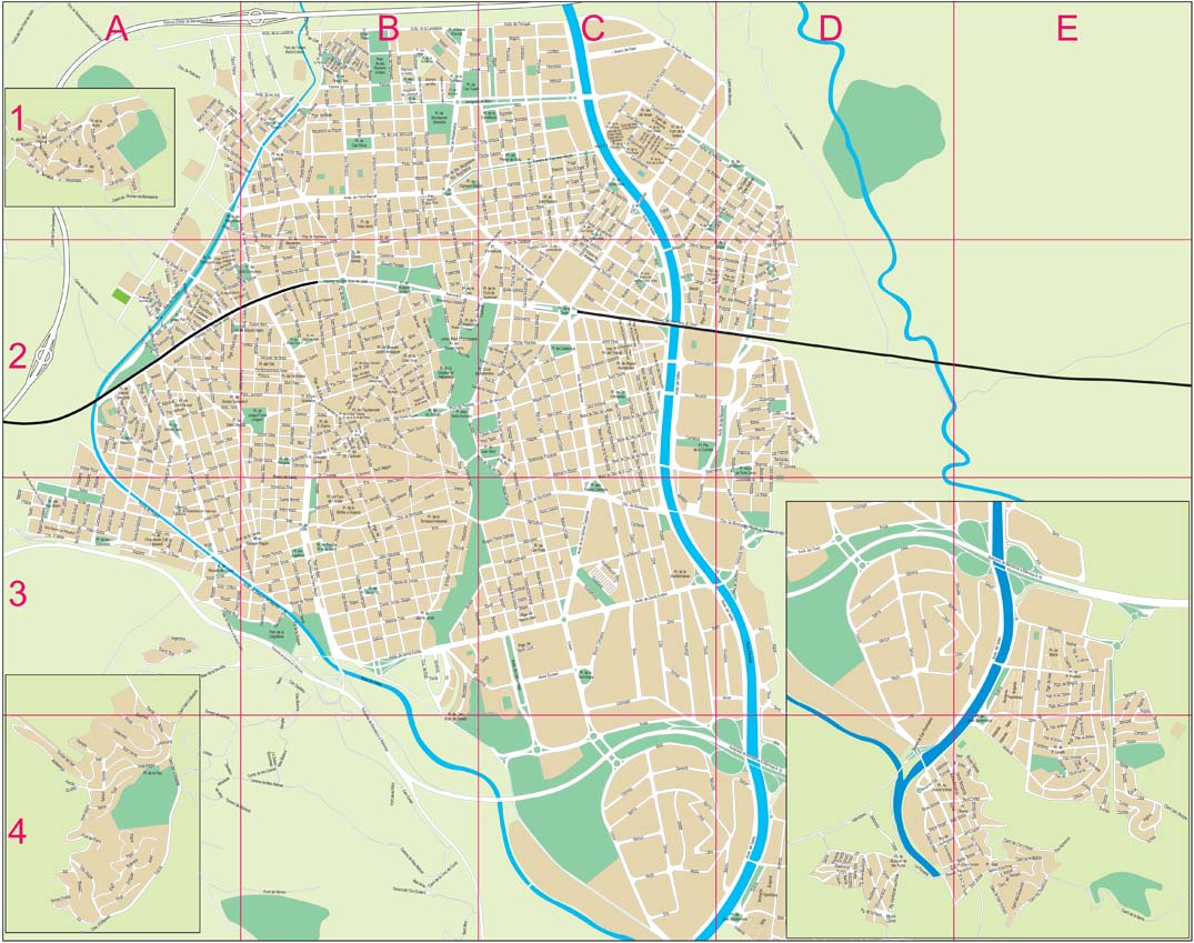 Terrassa - city map
