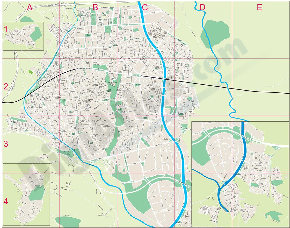 Terrassa - city map