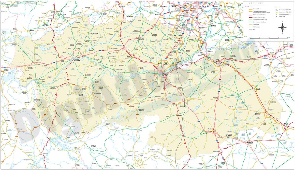 Map of Toledo