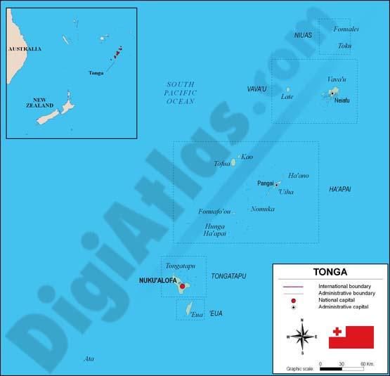 Mapa de Tonga