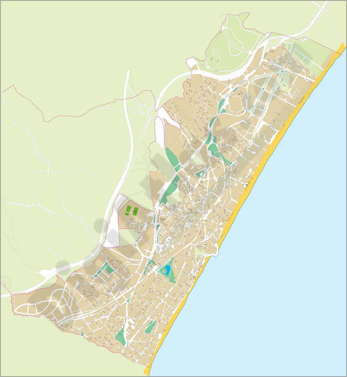 Torremolinos - city map
