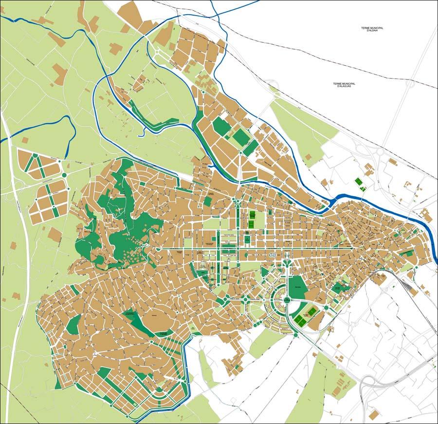 Torrent (Valencia) - plano callejero