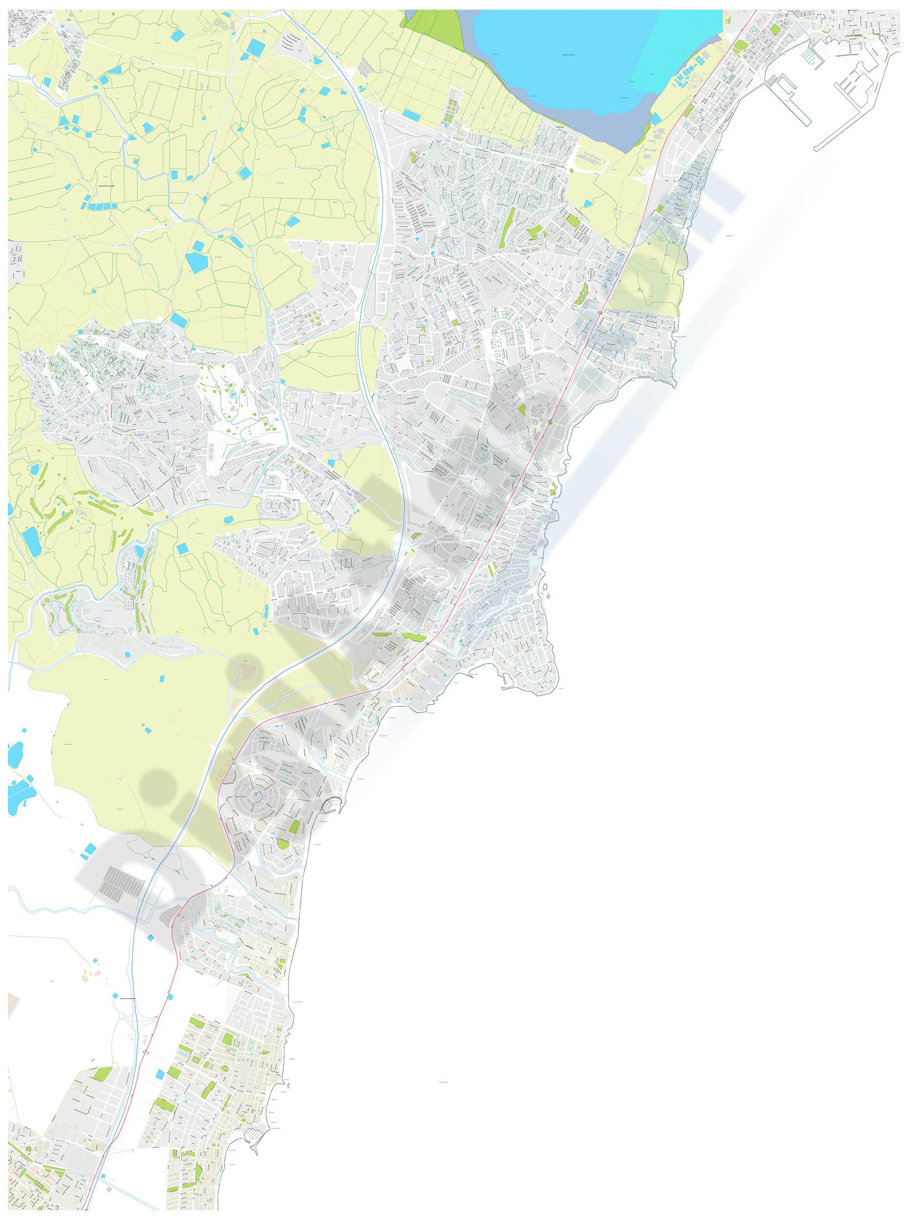 Torrevieja-Pilar de la Horadada (province of Alicante, Spain) - city map