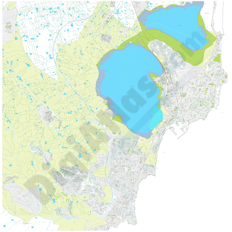 Torrevieja-Orihuela (province of Alicante) - city map