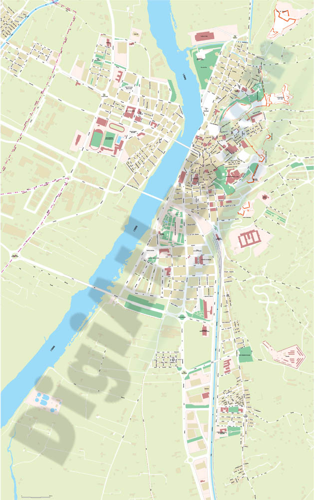 Tortosa - city map of the center
