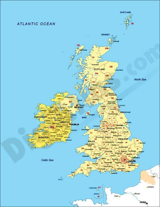 Reino Unido Capitales Mapa Del Reino Unido e Irlanda