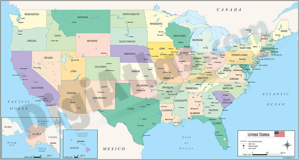 Mapa de Estados Unidos de América