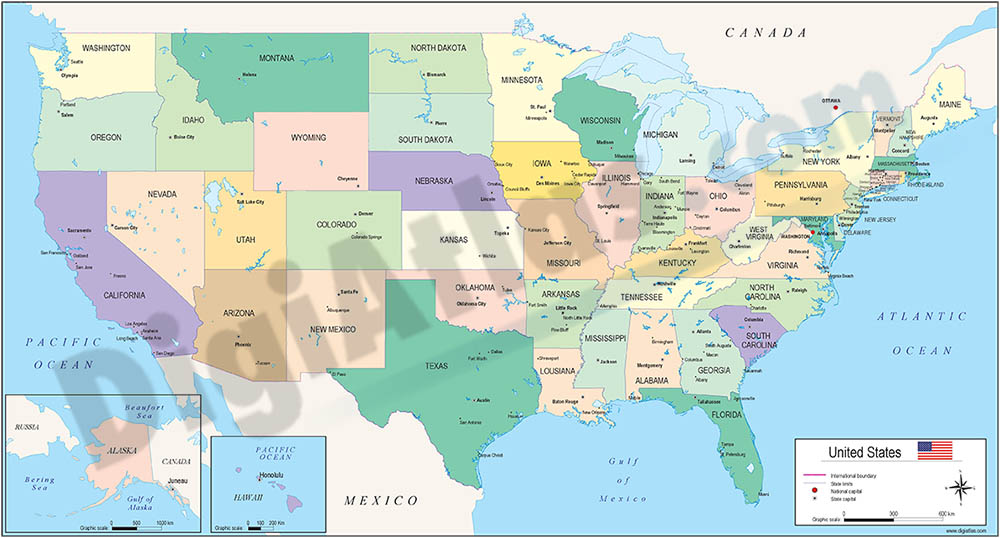 View Map Of United States.Map Of United States Of America