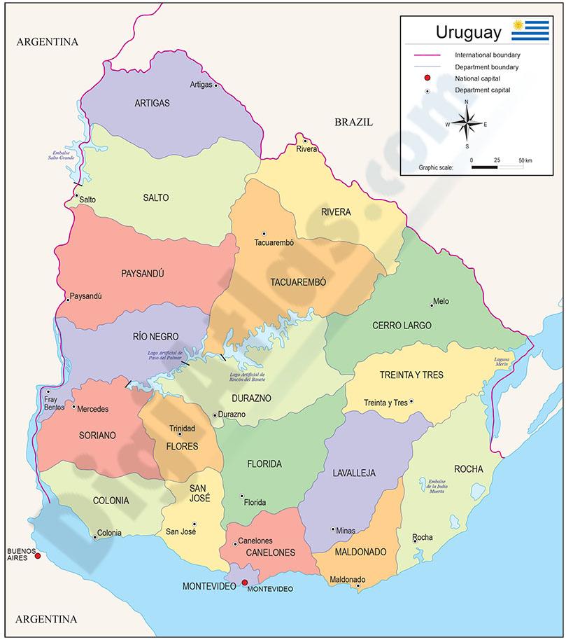 Map of Uruguay