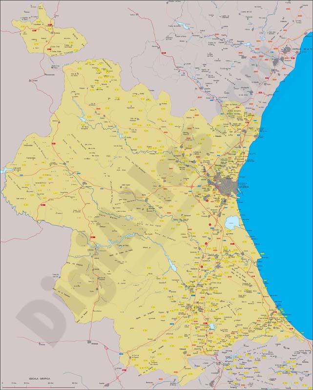 Provincia Valencia Municipios la Provincia de Valencia