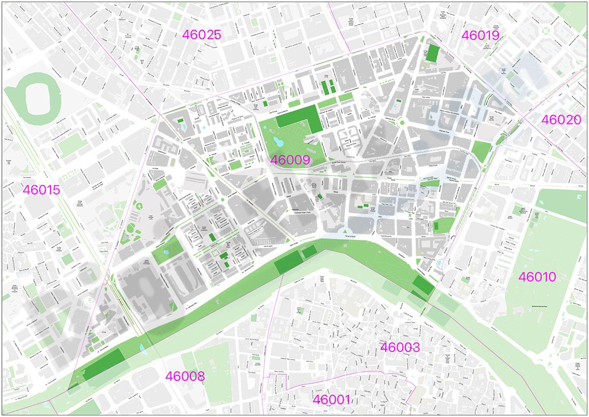 Mapa de Valencia 46009