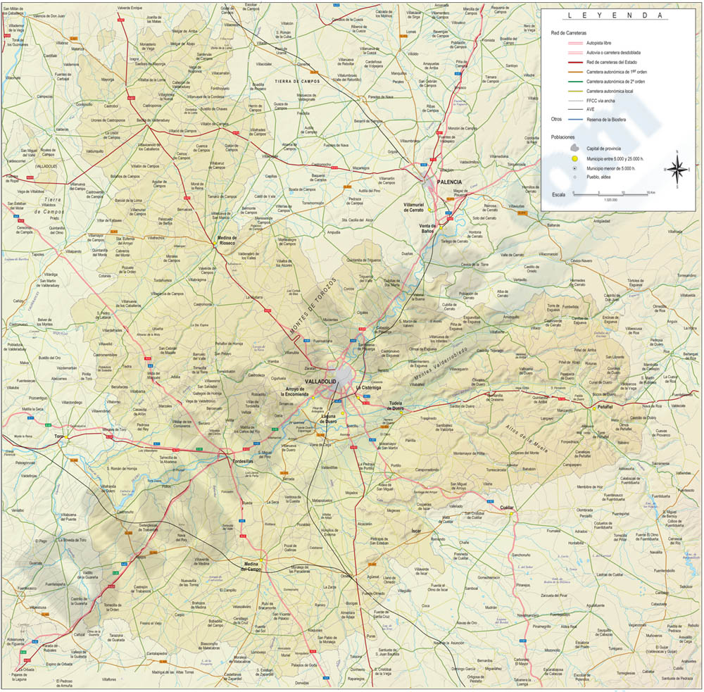 Map of Valladolid