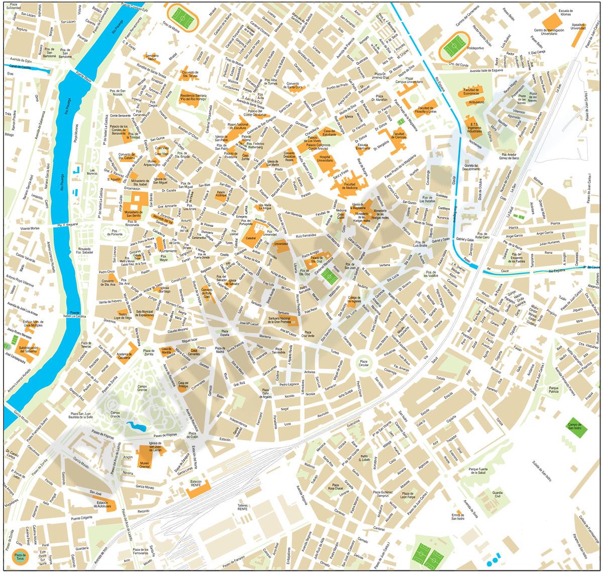 Valladolid center city map