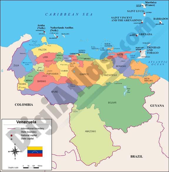 Map of Venezuela