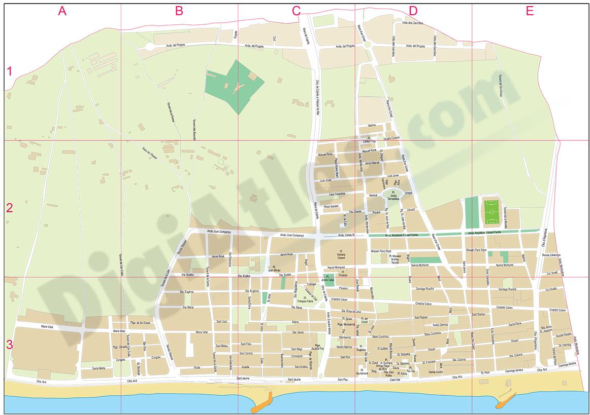 Vilassar de Mar (Barcelona, Spain) - city map