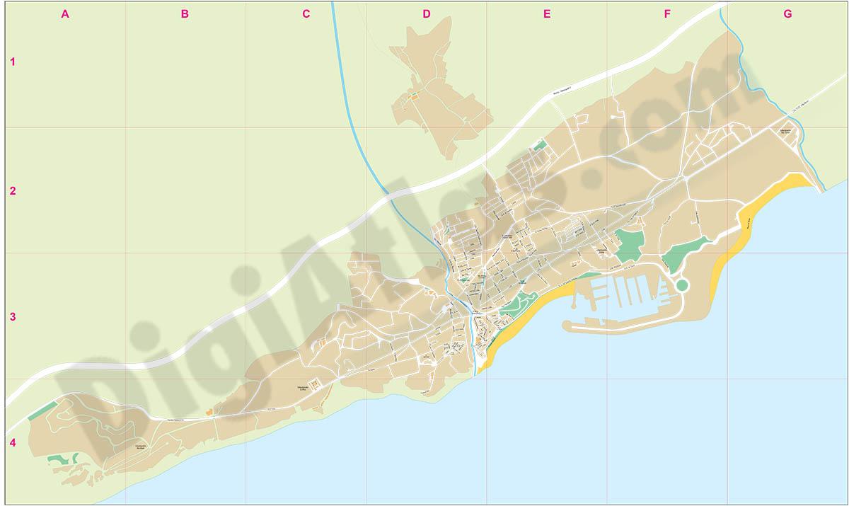 Villajoyosa La Vila Joiosa - plano callejero