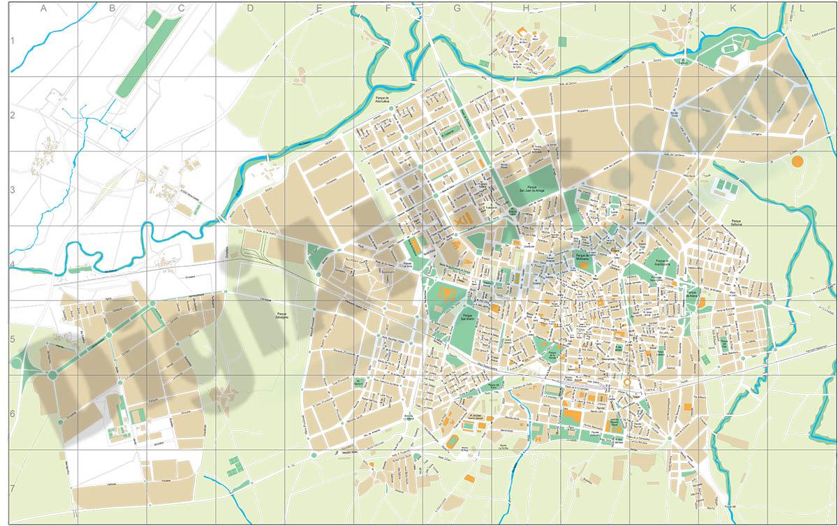 Vitoria-Gasteiz city map