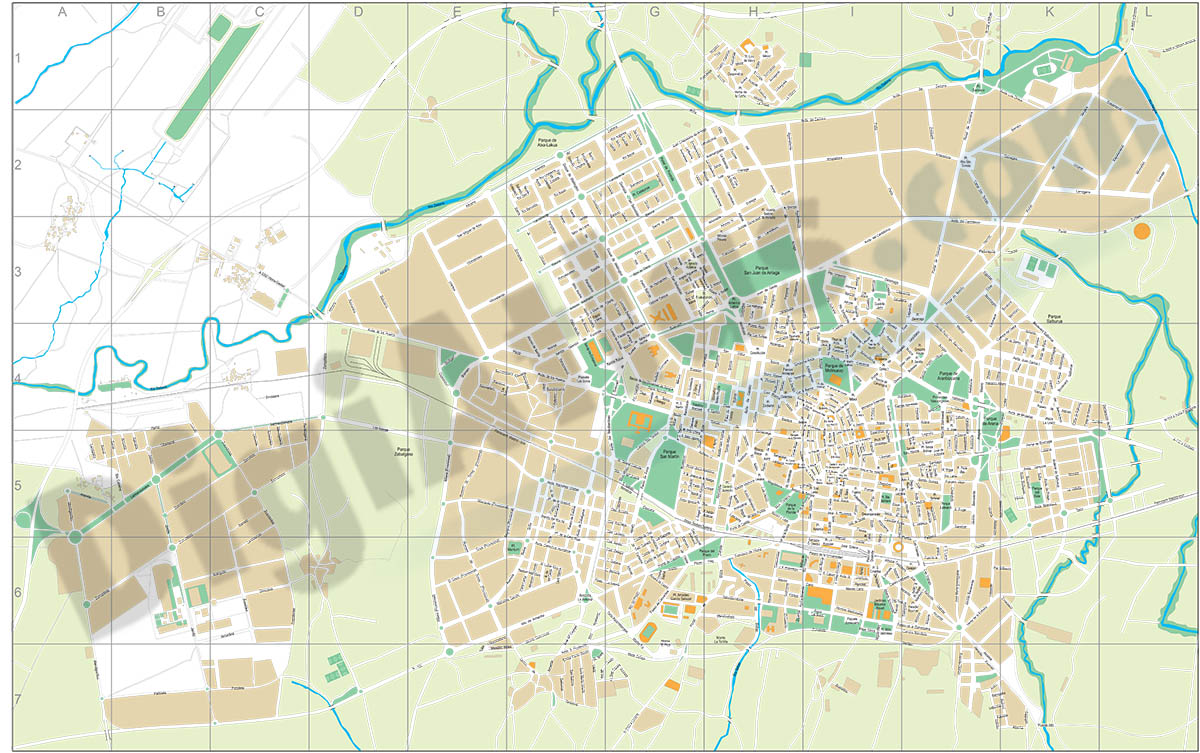 Vitoria-Gasteiz city map