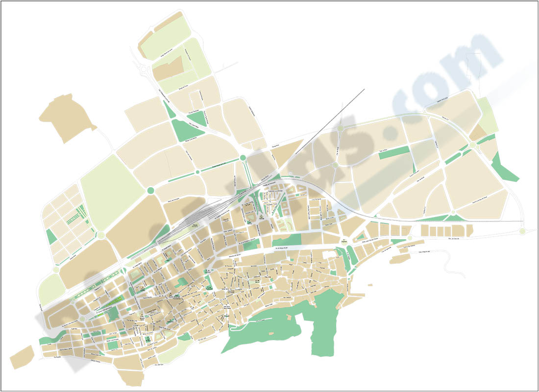 Xàtiva - Játiva (Valencia) - city map