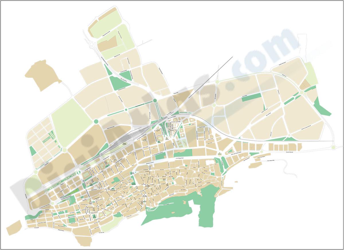 Xàtiva - Játiva (Valencia) - city map