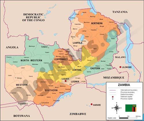Mapa de Zambia