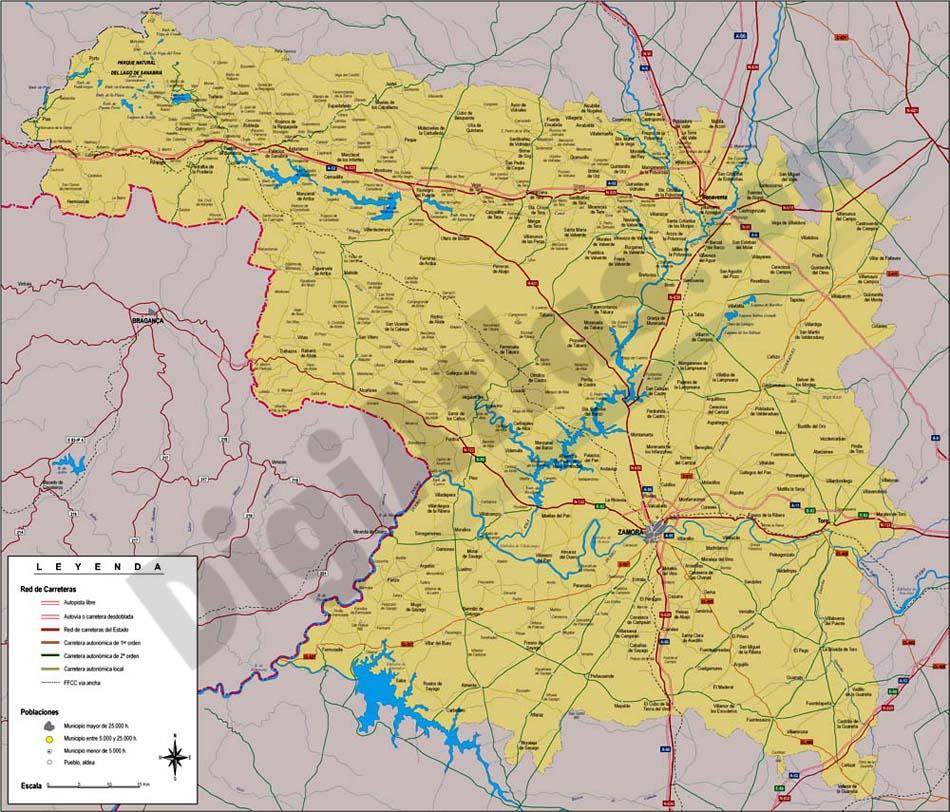 Provincias Barcelona Mapa Mapa de la Provincia de Zamora