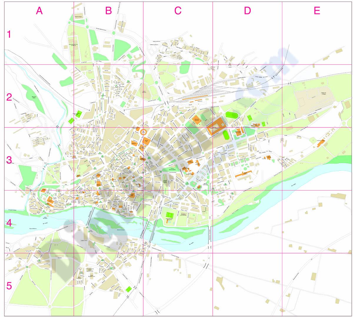 Zamora city map