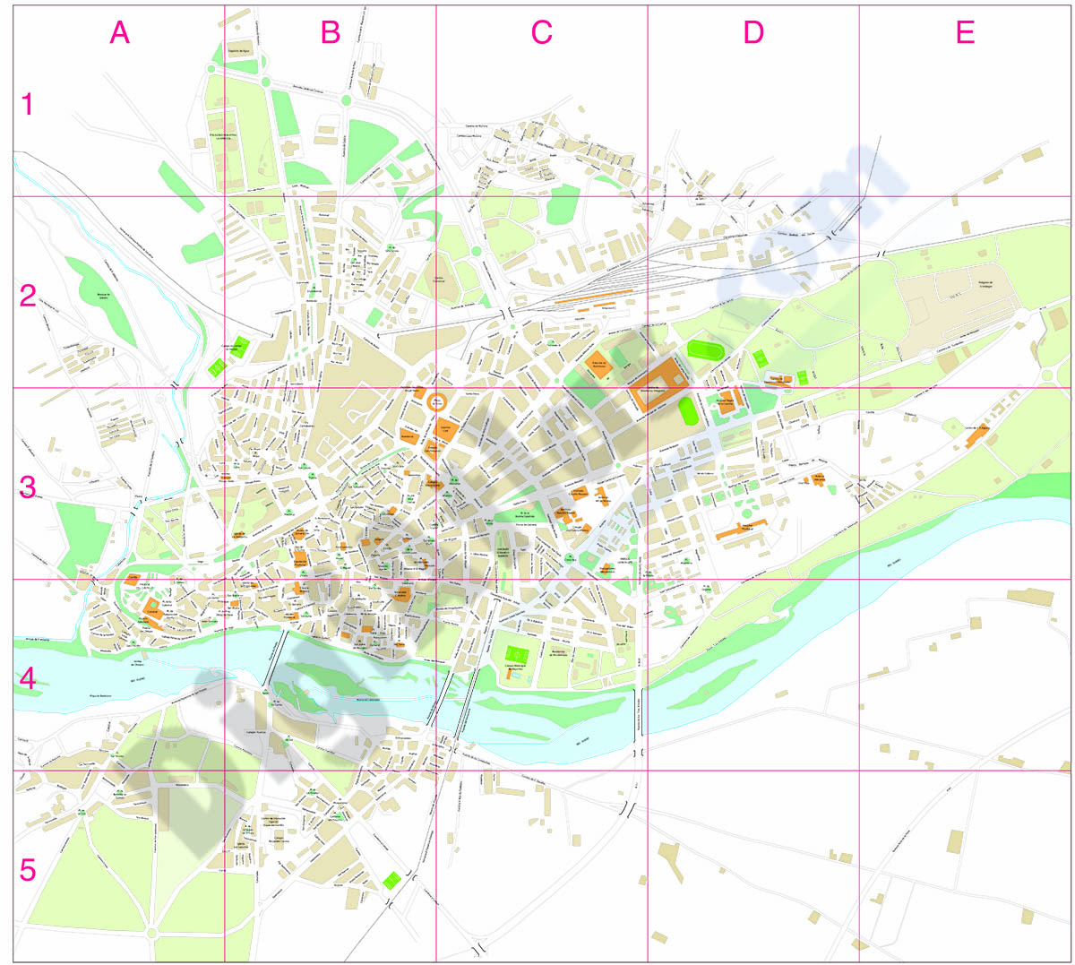Zamora city map