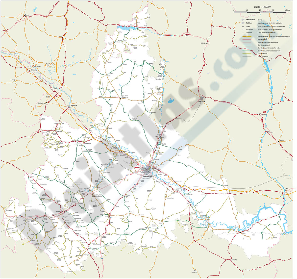 Map of Zaragoza