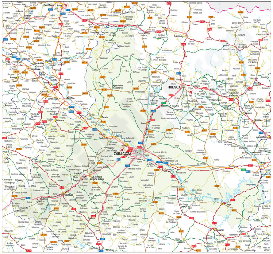 Mapas de las 50 provincias españolas