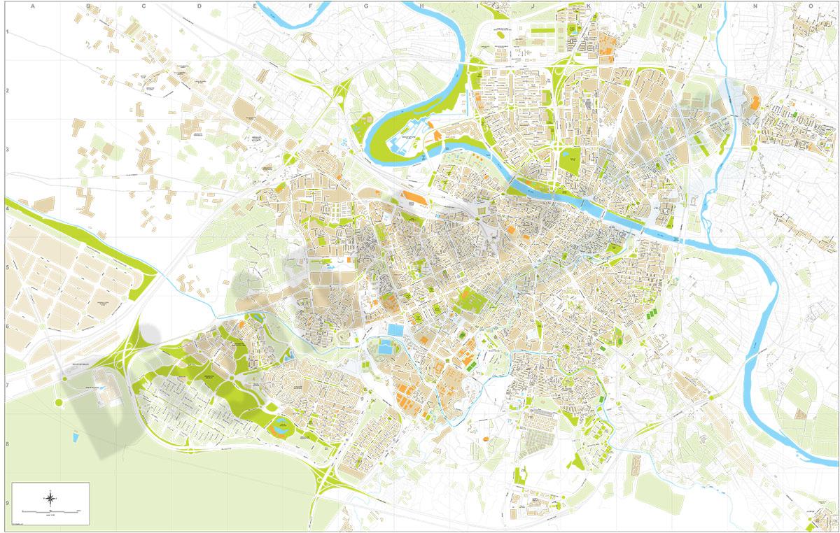 Zaragoza city map PDF