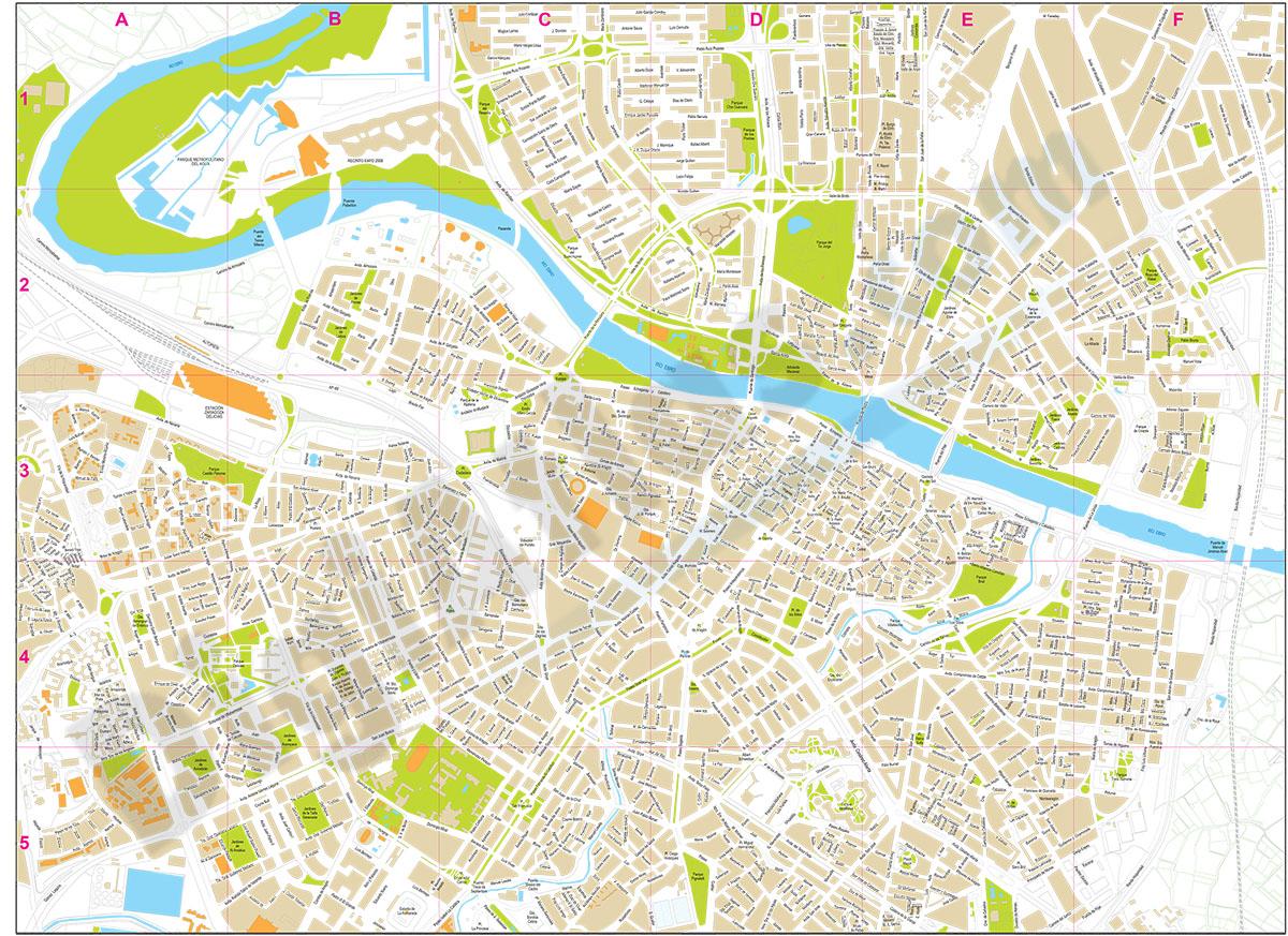 Zaragoza centro - plano callejero