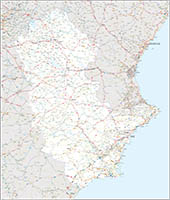 Map of some provinces of Spain