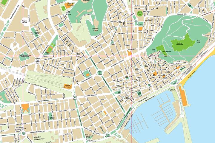 Alicante - plano callejero