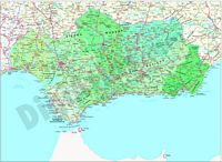 Map of Andalusia