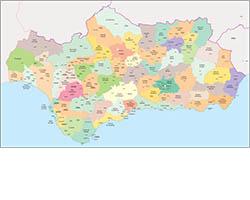 Comarcal maps of Spain autonomous communities