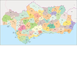 Comarcal maps of Spain autonomous communities