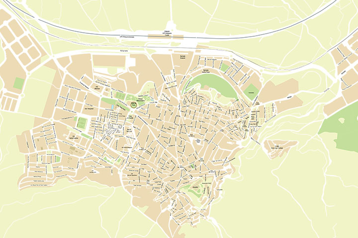 Antequera city map