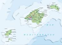 Mapa de Baleares (Illes Balears)