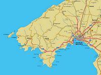 Mapa de Mallorca (Illes Balears)